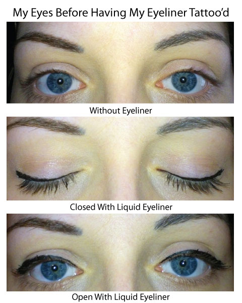 Semi permanent eyeliner tattoo review at whitethorn fields for Permanent eyeliner tattoo