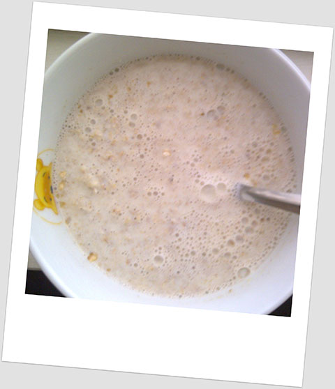 Breakfast Day 23: A Bowl Of Porridge With Full Fat Milk