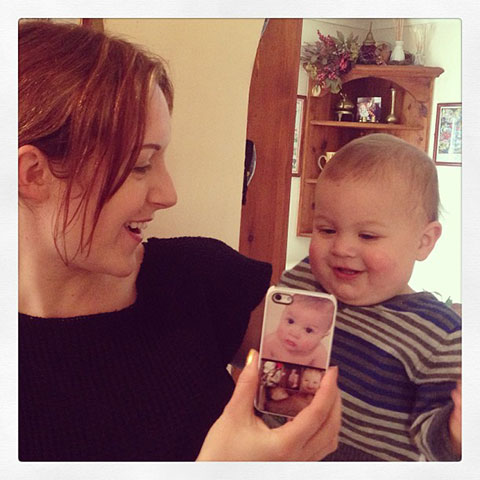 Luca's Fantastic New Phone Case Arrived Today And Gabriele Gave It His Approval!