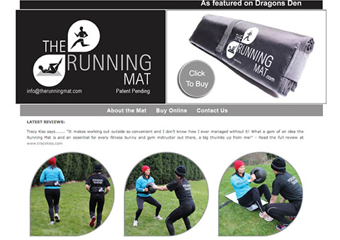 The Running Mat Are Using My Blog Review Online And Won Investment On Dragon's Den