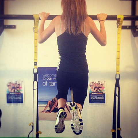 Practising My Chin Up's At The Gym Ready For P90X