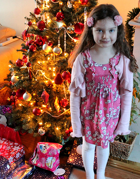 My Beautiful Daughter Millie On Christmas Morning