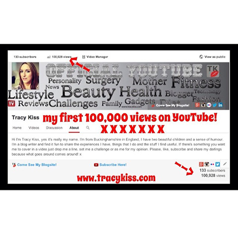 I Have Received My First 100,000 Hits On My Youtube Channel