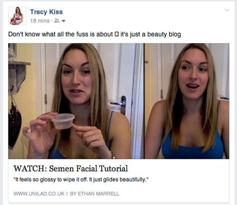 Tracy Kiss In UniLad