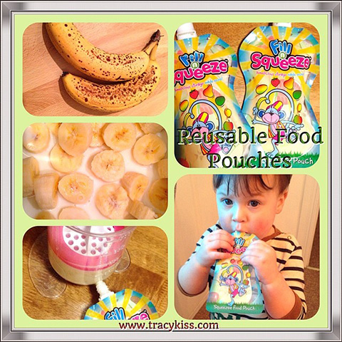 My 23 Month Old Son Gabriele Loves Homemade Banana Pudding In His Fill 'n' Squeeze