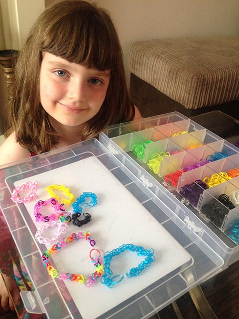Millie Has Become A Loom Band Master