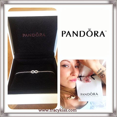 Tracy Kiss Wears Pandora Symbol Of Infinity Bracelet