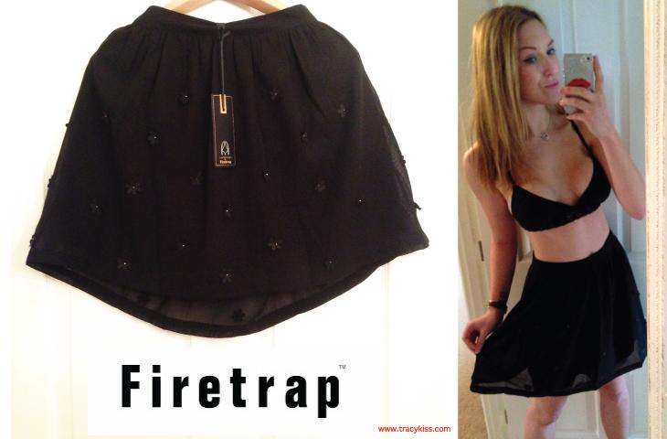 Firetrap Rock&Rags Black 3D Floral Skirt