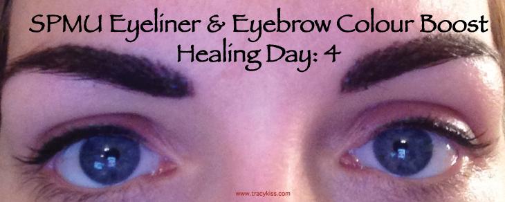 SPMU Eyebrow & Eyeliner Colour Boost Healing Day 4