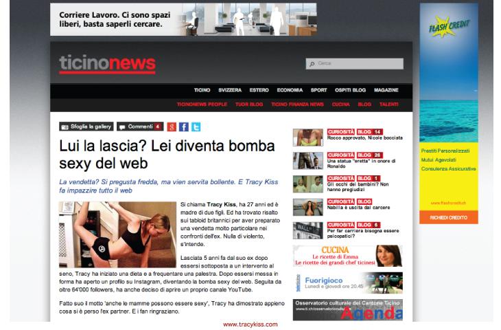 Tracy Kiss In Ticino News