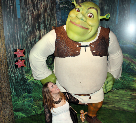 Madam Tussauds Tracy Kiss & Shrek
