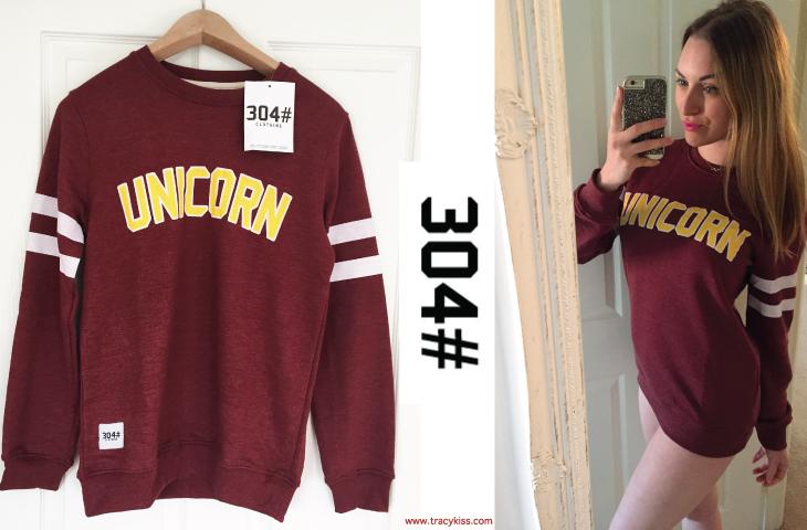 304# Garnet Unicorn Sweater