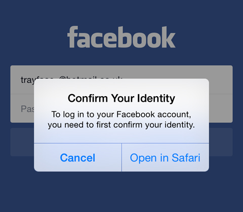 Facebook Confirm Your Identity