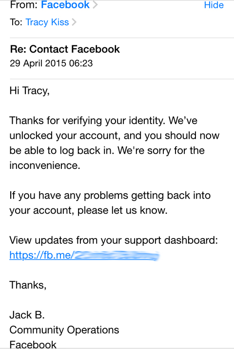 Identity your facebook problem confirm login Can't confirm