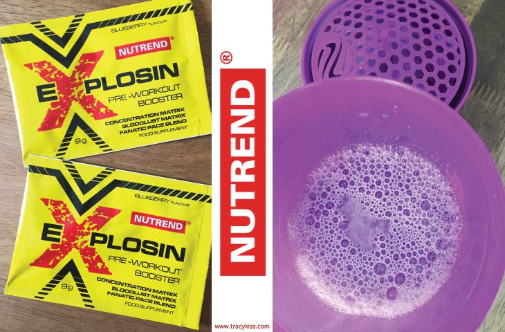 Nutrend Explosin Blueberry Pre Workout Supplement