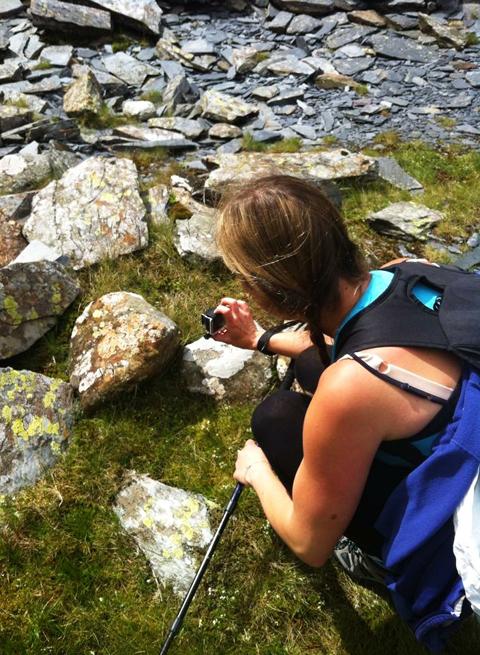 Tracy Kiss Taking Photos On Mount Snowdon
