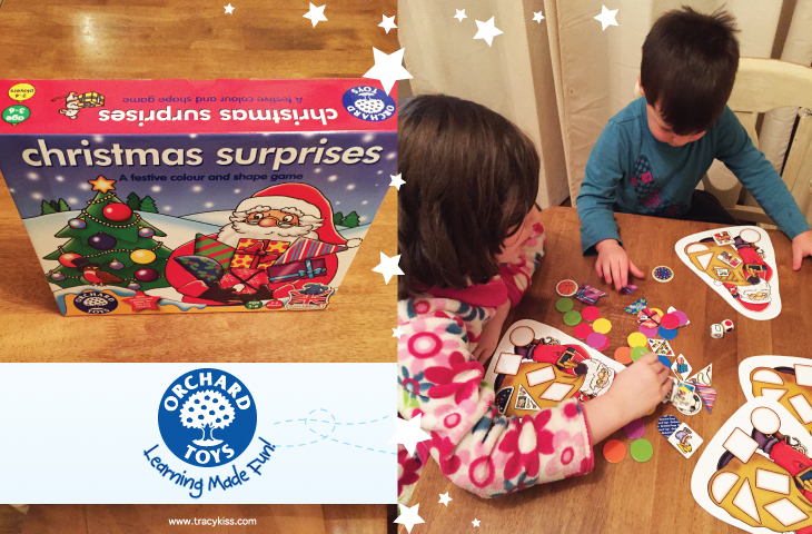 Orchard Toys Christmas Surprises Shape & Colours Game