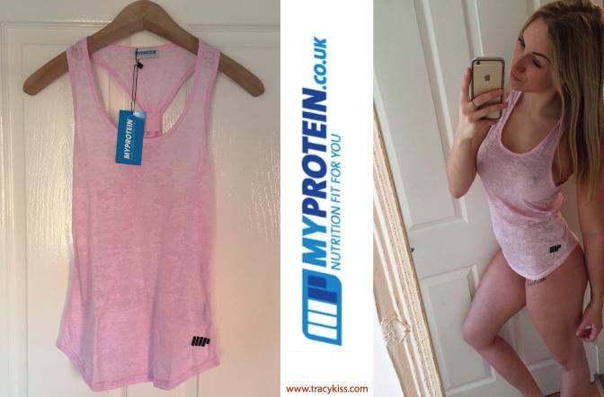 Myprotein Pink Racer Back Vest