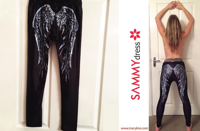 Sammy Dress Black Angel Wings Leggings