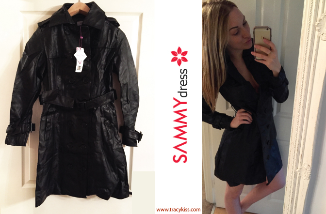 Sammy Dress Black Knee High Trench Coat