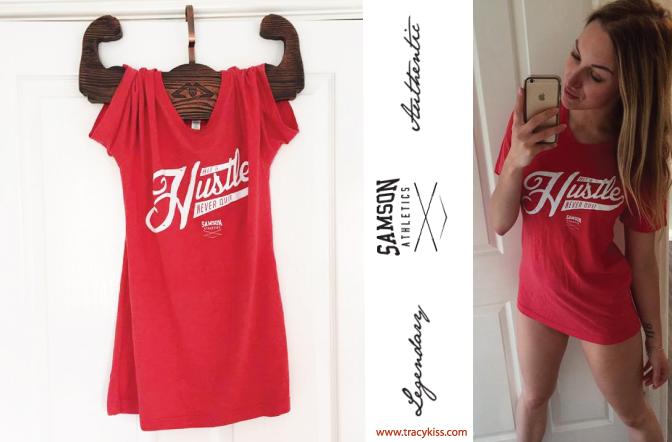 Samson Athletics Red Hit & Hustle Tee