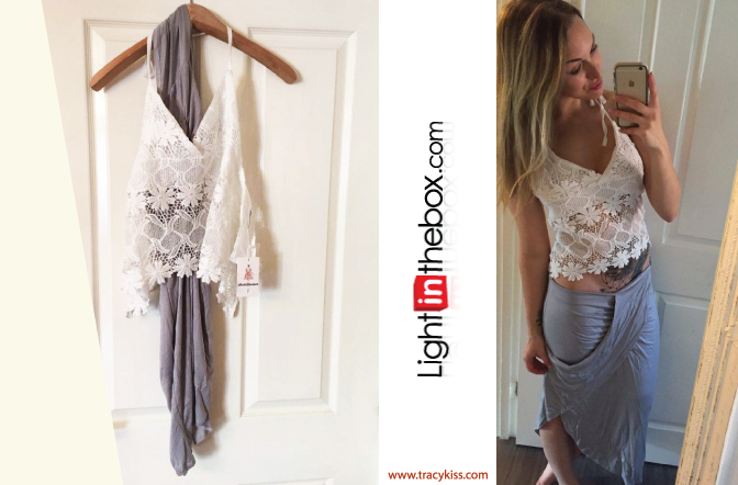 LightInTheBox Bodycon Beach Skirt & Lace Crop