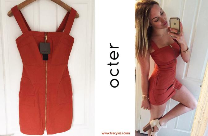 Octer Vila Viaxel Rust Denim Dress