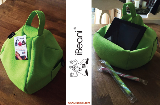 iBeani Lime iPad, Tablet & eReader Bean Bag Stand
