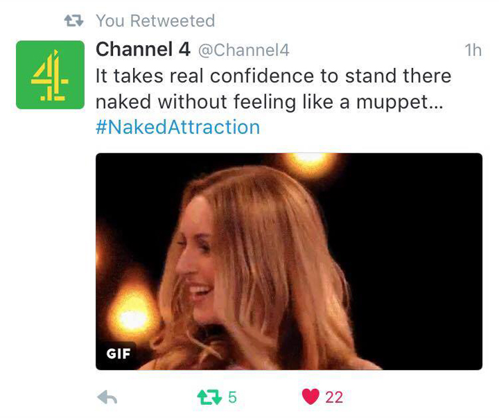 Tracy Kiss For Channel 4 Naked Attraction SE01EP03