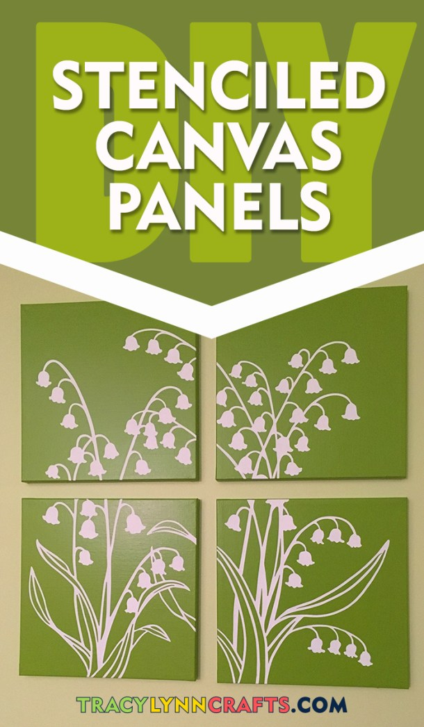 How to make beautiful stenciled canvas panels to decorate the walls in your home | #stenciling #diy #stencil