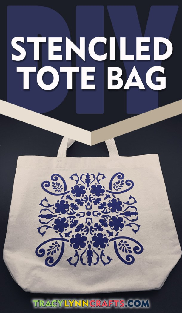How to make a beautiful DIY Stenciled Tote Bag | easy step-by-step photo tutorial with video | #stenciling #diy #totebag #stencil #fabricstenciling #fabricpainting