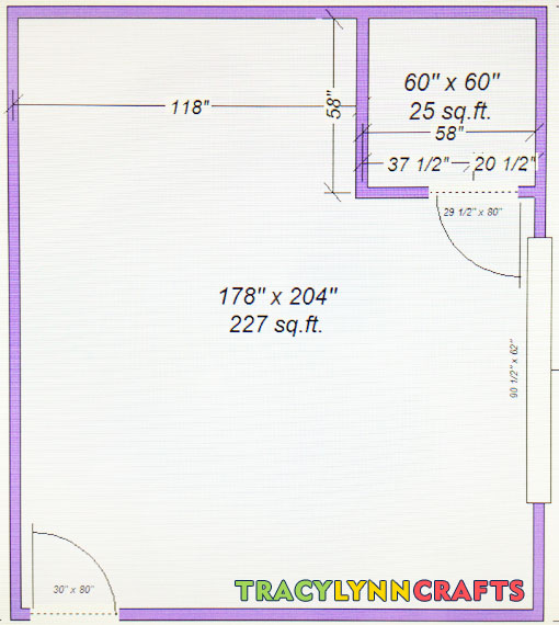Floor plan for my home office remodeling project