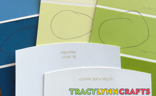 Paint colors are selected for walls, trim, and ceiling