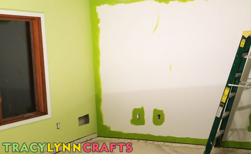 I painted the walls in two shades of green