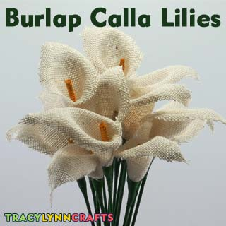DIY these easy and beautiful burlap calla lilies
