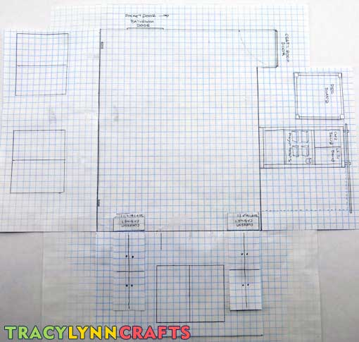 Craft Room organization begins with the starting point - the floorplan