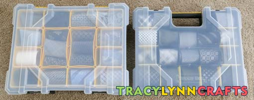Different size cases for varying widths of ties