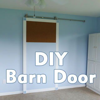 You can make your own barn door and save hundreds of dollars!