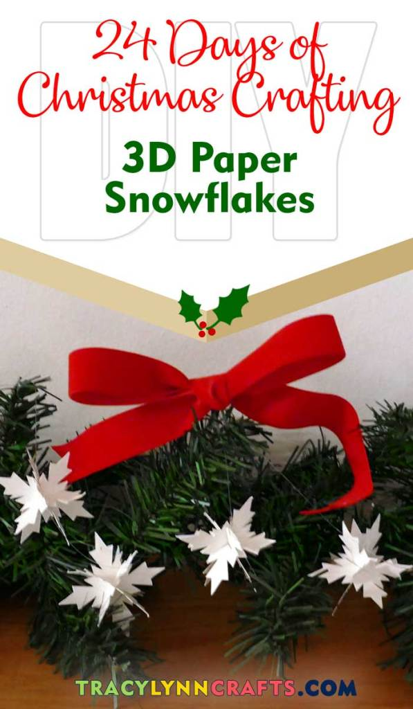 These tiny 3D paper snowflakes will help bring the beauty of winter into your home | #diy #christmas #cricut #paper #snowflakes