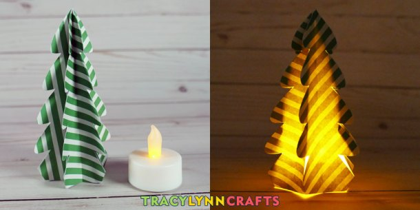 For larger trees, slip them over an LED tea light for a night time decoration
