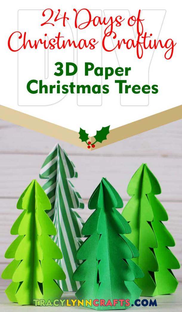 These adorable 3D paper trees are fast and easy to make for your holiday decorations | #diy #christmas #cricut