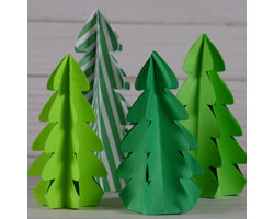 These 3D Paper Christmas Trees are fast and easy to make