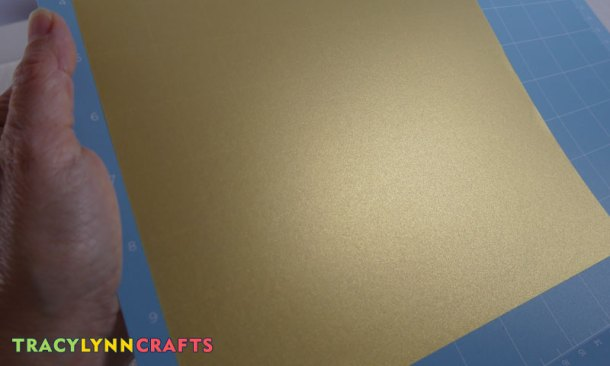 This vellum has a pearlescent gold finish to it