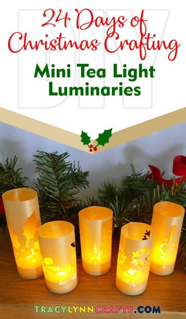You can make these mini luminaries to light up your holiday! | #diy #cricut #christmas #luminary #luminaries #vellum #holiday