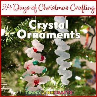 In this kid-friendly holiday craft, you and the kids can grow crystal ornaments in a day