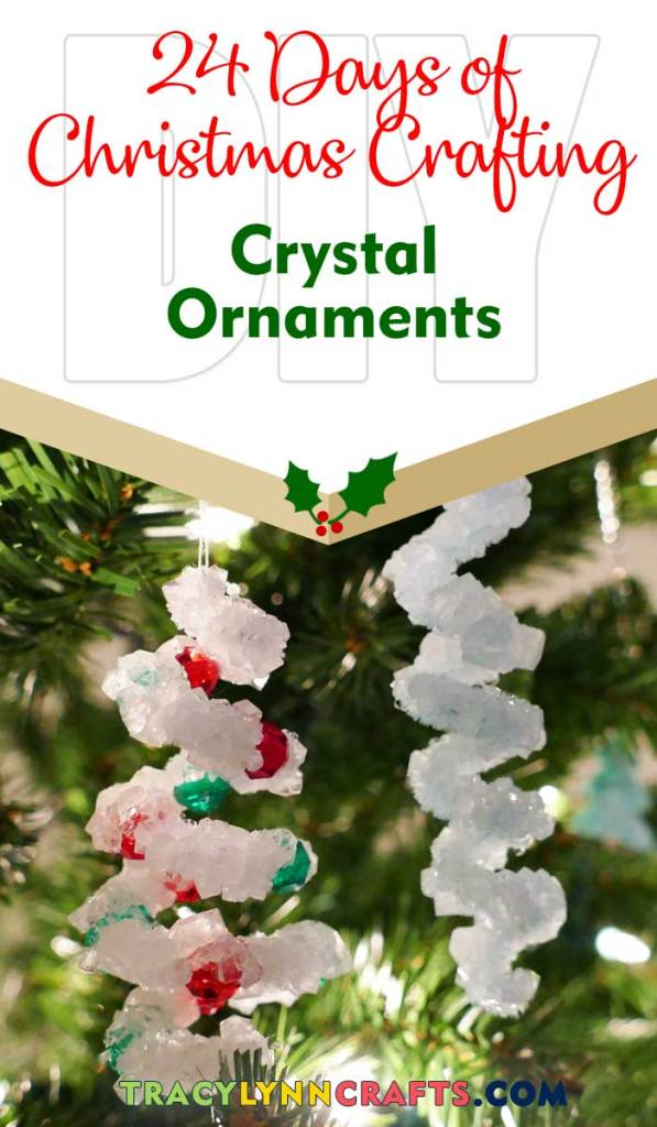 In this kid-friendly holiday craft, you and the kids can grow crystal ornaments in a day | #diy #borax #crystal #christmas #ornaments