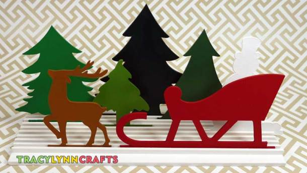 This is one of any number of ways you can arrange the winter cutouts