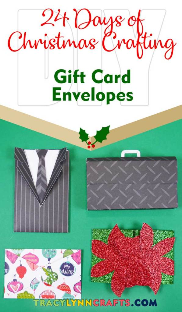 These gift card envelopes are a cute way to wrap those last minutes gift cards| #diy #christmas #cricut #paper #gift_card_envelope