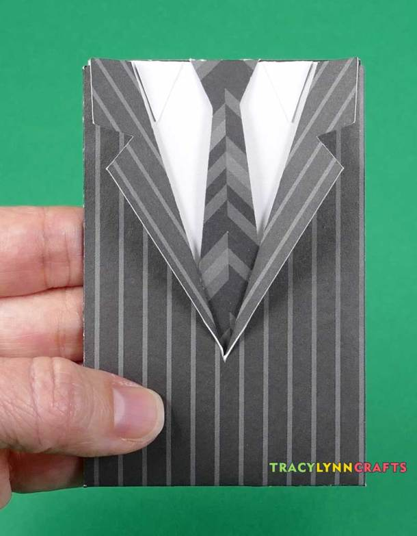 The Suit and Tie Gift Card Envelope is now complete