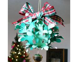 Get your Christmas kisses under this DIY paper mistletoe